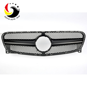 Benz GLA Class X156 AMG Style 15-IN Gloss Black Front Grille