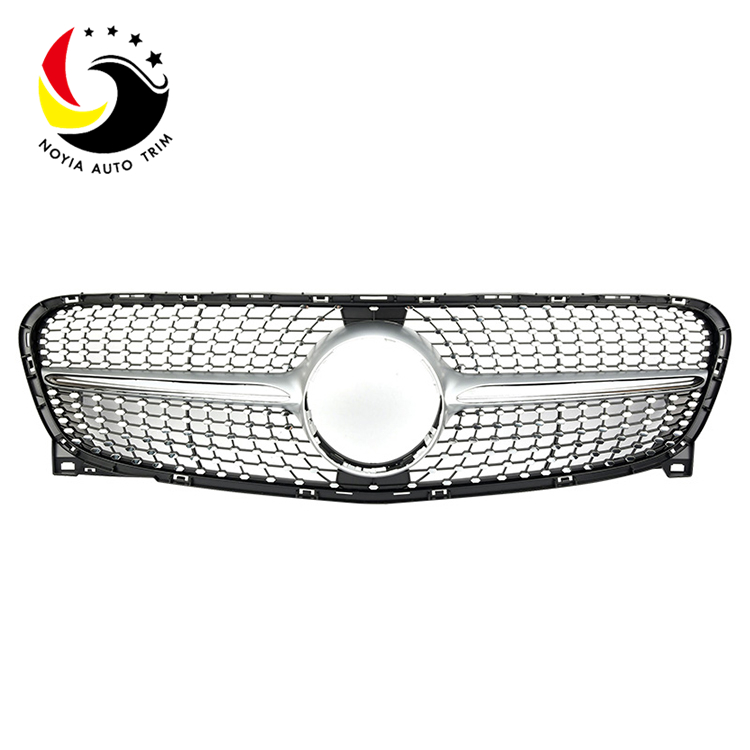 Benz GLA Class X156 Diamonds 15-IN Silver Front Grille