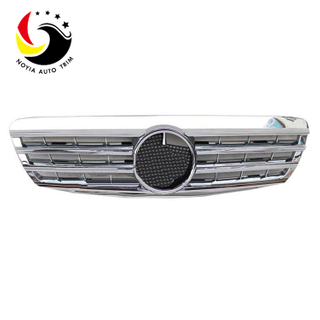 Benz S Class W220 AMG Style 99-02 Chrome Silver 2-Fin Front Grille