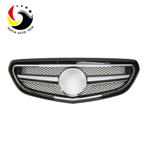 Benz E Class W212 AMG Style 14-15 Gloss Black Front Grille (Fits Facelift Basic Trim)