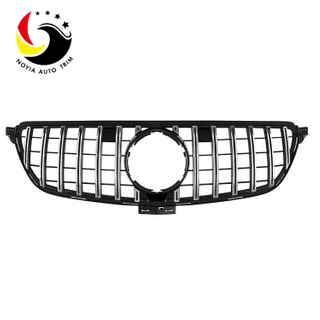 Benz GLE Class W166 15-IN GTR Style Chrome Silver Front Grille