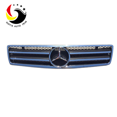 Benz SL Class W129 AMG Style 90-02 Chrome Black 2-Fin Front Grille