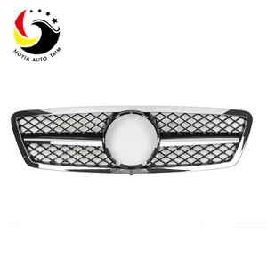 Benz C Class W203 AMG Style 00-06 Chrome Black 1-Fin Front Grille