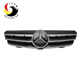Benz CLK Class W209 AMG Style 03-07 Chrome Black 3-Fin Front Grille