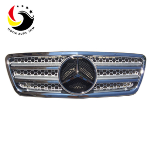 Benz E Class W210 AMG Style 00-02 Chrome Silver 2-Fin Front Grille