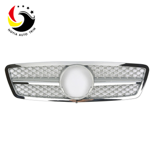 Benz C Class W203 AMG Style 00-06 Silver 1-Fin Front Grille
