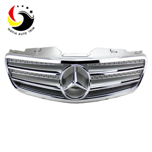 Benz SL Class R230 AMG Style 03-07 Chrome Silver 2-Fin Front Grille
