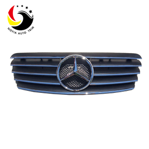Benz CLK Class W208 Sport Style 98-02 Chrome Black Front Grille