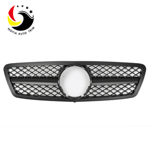 Benz C Class W203 AMG Style 00-06 Matte Black 1-Fin Front Grille
