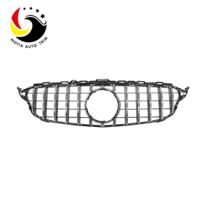 Benz C Class W205 GTR Style 15-IN Chrome Silver Front Grille
