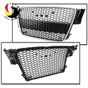 Audi A5 08-10 RS Style Chromed Frame Black Grid Front Grille (No Logo)