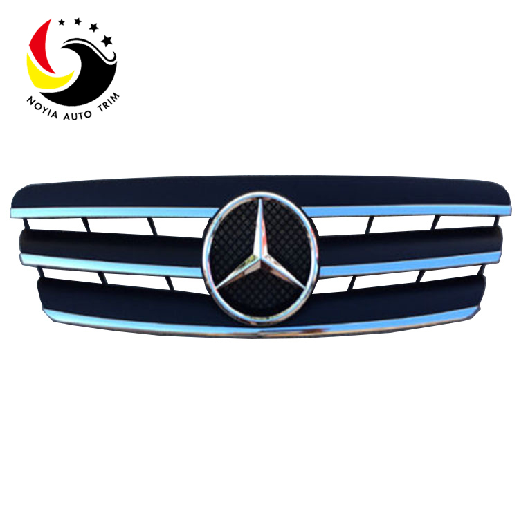 Benz C Class W203 AMG Style 00-06 Chrome Black 3-Fin Front Grille