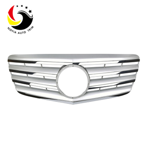 Benz E Class W211 AMG Style 07-09 Silver 2-Fin Front Grille