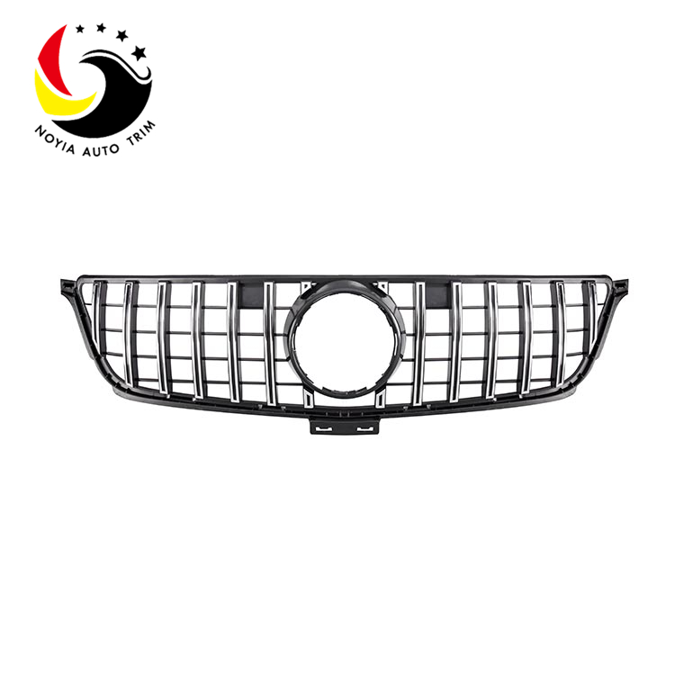 Benz ML Class W166 12-15 GTR Style Chrome Silver Front Grille