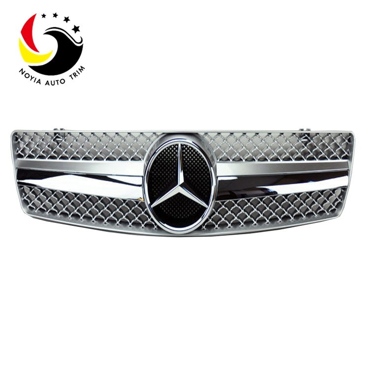 Benz SL Class W129 AMG Style 90-02 Chrome Silver 1-Fin Front Grille