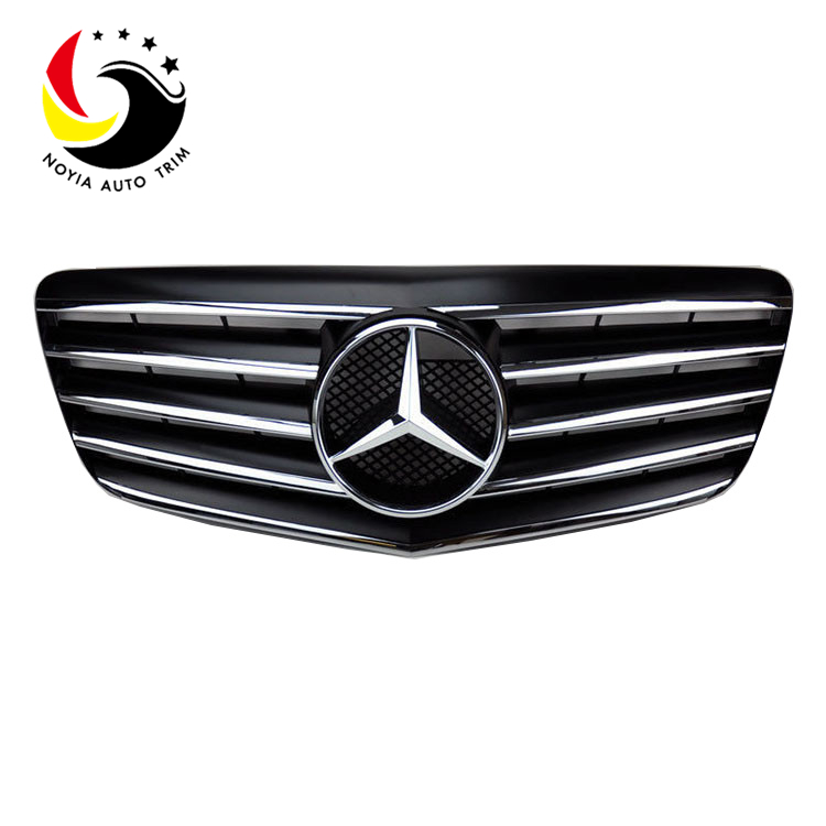 Benz E Class W211 Sport Style 07-09 Chrome Black Front Grille