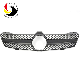 Benz CLS Class W219 AMG Style 04-07 Matte Black 1-Fin Front Grille