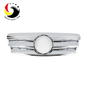 Benz CLK Class W208 AMG Style 98-02 Chrome 3-Fin Front Grille
