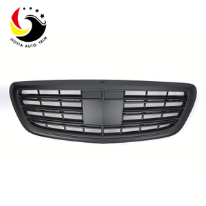 Benz S Class W222 S65 Style 14-IN Matte Black Front Grille
