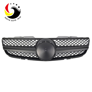 Benz SL Class R230 AMG Style 07-09 Matte Black 1-Fin Front Grille